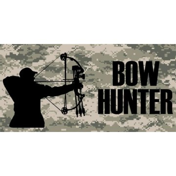 Bow Hunter Photo License Plate