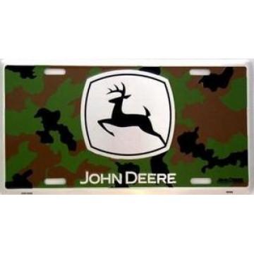 John Deere  Camouflage Metal License Plate