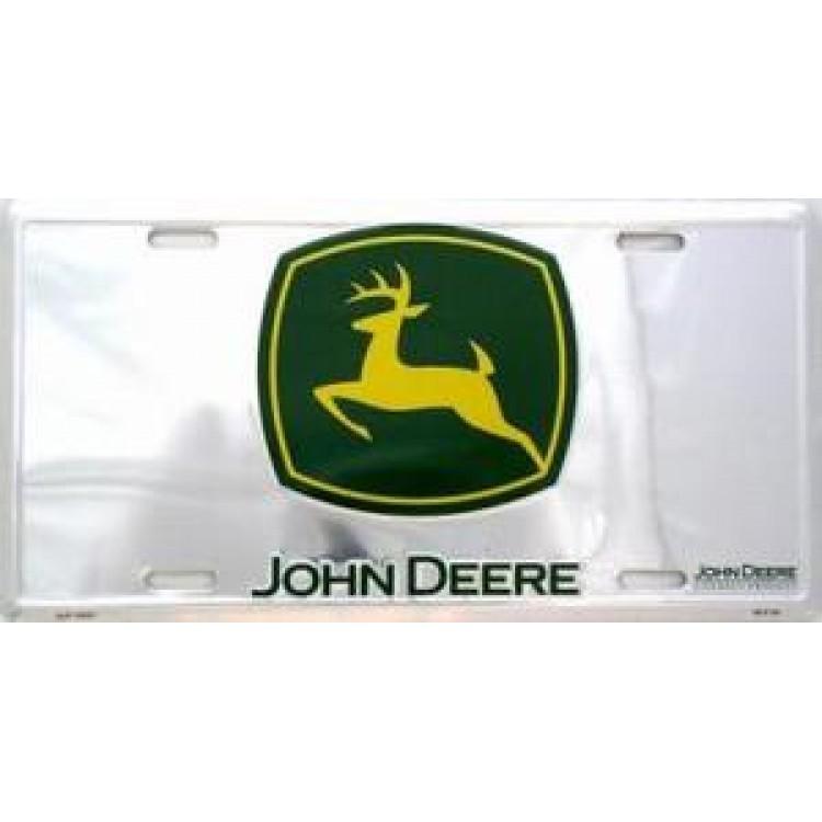 John Deere Green Logo Anodized License Plate