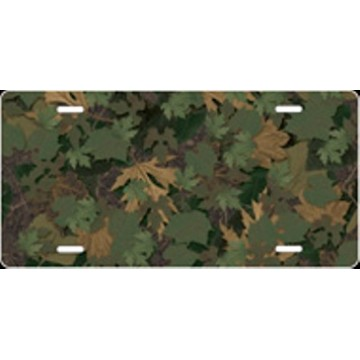 Camo Leaf Airbrush License Plate