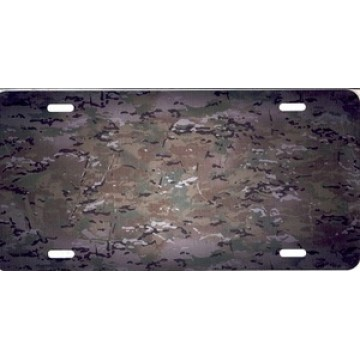 Camo Airbrush License Plate