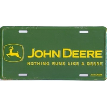 John Deere-Nothing Runs Like a Deere License Plate