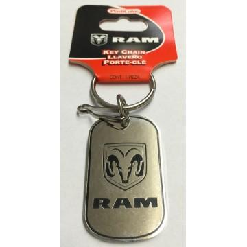 Dodge Ram Dog Tag Enamel Keychain