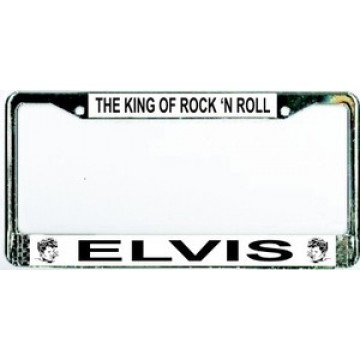 Elvis The King of Rock 'N Roll Chrome License Plate Frame