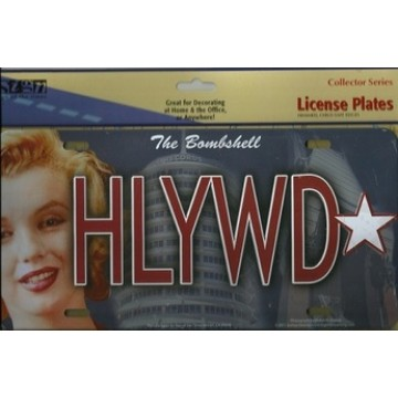 Marilyn Monroe HLYWD License Plate