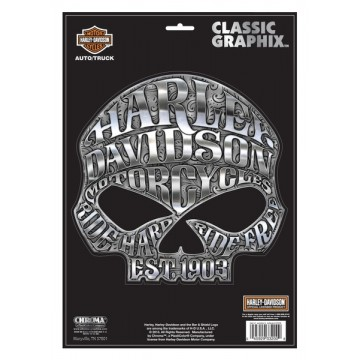 Harley-Davidson - Willie G. Skull Large - Classic Graphix Decal
