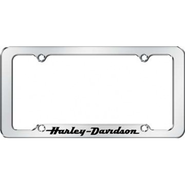 Harley-Davidson Script With Black Letters License Plate Frame