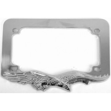 Chrome Eagle Motorcycle License Frame