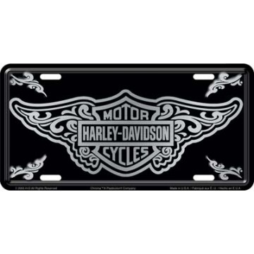 Harley-Davidson Bar And Shield with Filigree Design