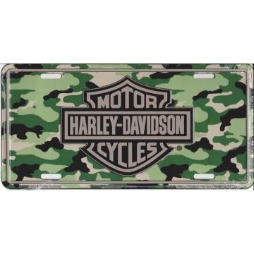Harley-Davidson Camouflage Logo License Plate