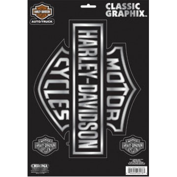 Harley-Davidson - Chrome Logo Large - Classic Graphix Decal