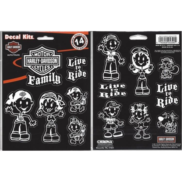 Harley-Davidson Family Decal Set
