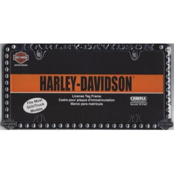 Harley-Davidson Studded Chrome License Plate Frame