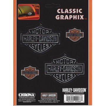 Harley-Davidson - Bar And Shield 4-Piece Set - Classic Graphix Decal