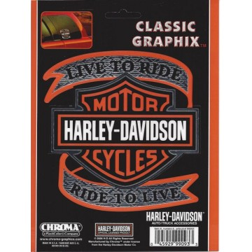 Harley-Davidson - Live to Ride with Bar And Shield - Classic Graphix Decal