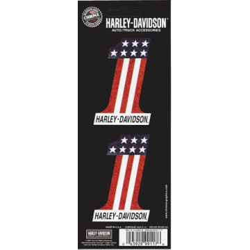 Harley-Davidson #1 American Flag Decal