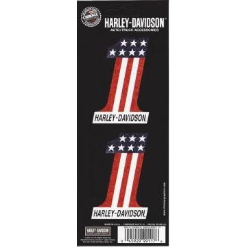 Harley-Davidson #1 American Flag Decal