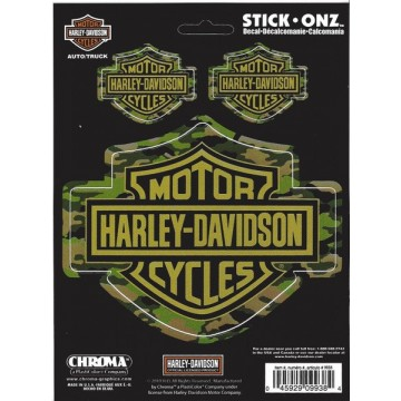 Harley-Davidson Bar and Shield Camouflage Decals
