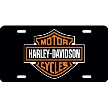 Harley-Davidson Black Laser License Plate