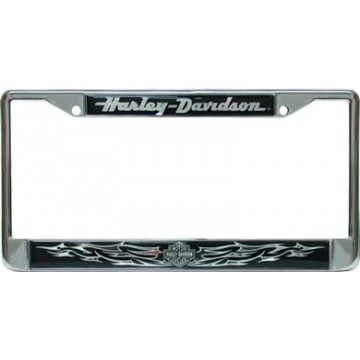 Harley-Davidson - Bar And Shield (Chrome) - Domed Frame