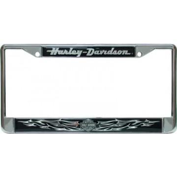Harley-Davidson - Bar And Shield (Chrome) - Domed Frame