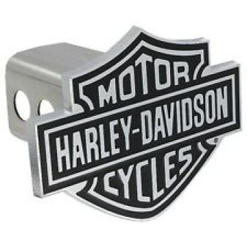 Harley-Davidson Black And White Logo Hitch Cover