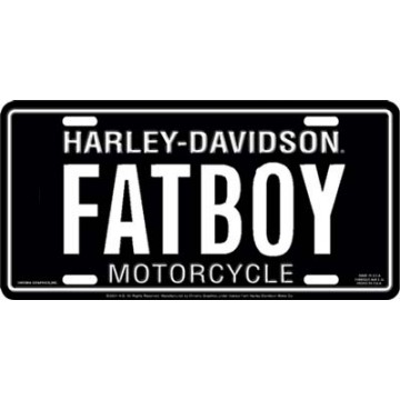Harley-Davidson Fatboy License Plate