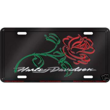 Harley-Davidson Rose License Plate