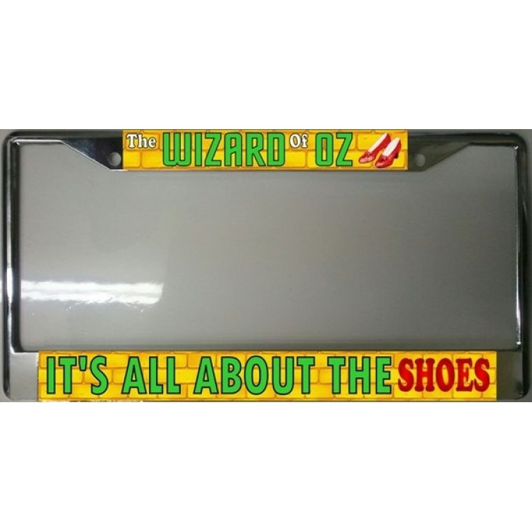 Wizard Of Oz Ruby Slippers Chrome License Plate Frame