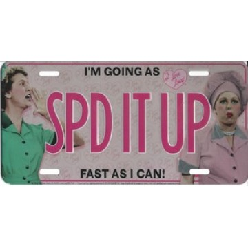 """SPD IT UP"" Lucy Photo License Plate"