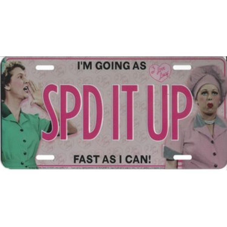 """""""SPD IT UP"""" Lucy Photo License Plate"""