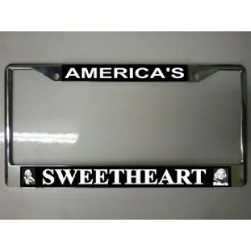 Marilyn America's Sweetheart Chrome License Plate Frame