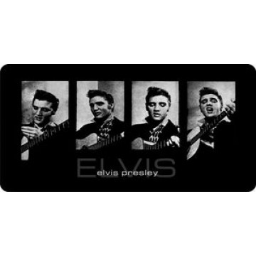 Elvis Presley Four Photo License Plate