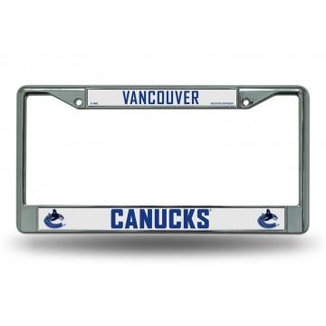 Vancouver Canucks Chrome License Plate Frame