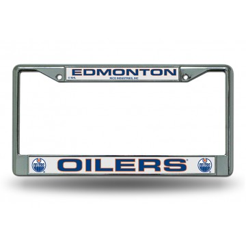 Edmonton Oilers Chrome License Plate Frame