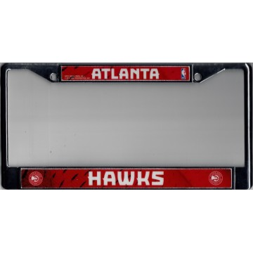 Atlanta Hawks Chrome License Plate Frame