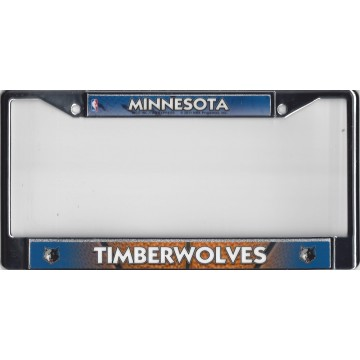 Minnesota Timberwolves Chrome License Plate Frame