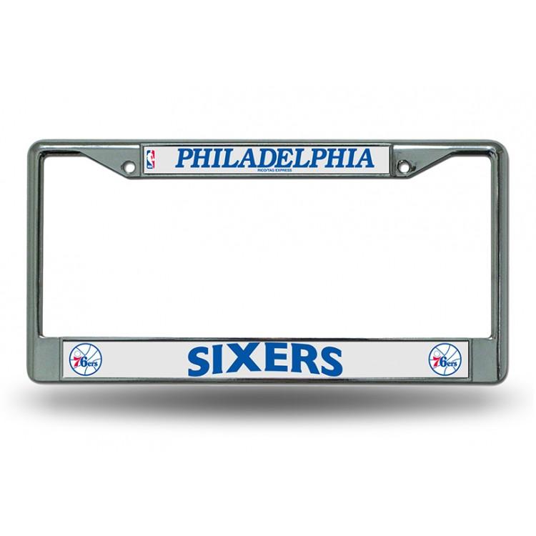 Philadelphia 76ers Chrome License Plate Frame