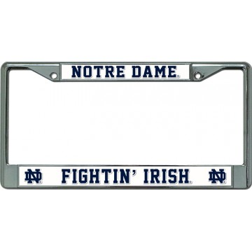 Notre Dame Fightin Irish Chrome License Plate Frame