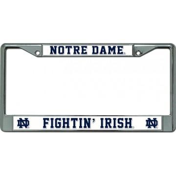Notre Dame Fightin Irish Chrome License Plate Frame