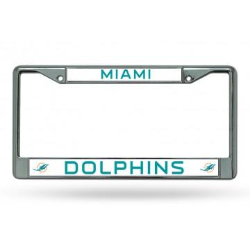 Miami Dolphins Chrome License Plate Frame