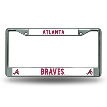 Atlanta Braves Chrome License Plate Frame