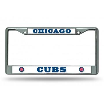 Chicago Cubs Chrome License Plate Frame