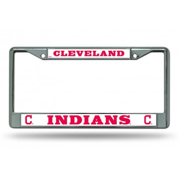 Cleveland Indians Chrome License Plate Frame