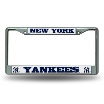 New York Yankees Chrome License Plate Frame