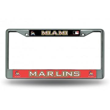 Miami Marlins Chrome License Plate Frame