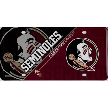 Florida State Seminoles Metal License Plate