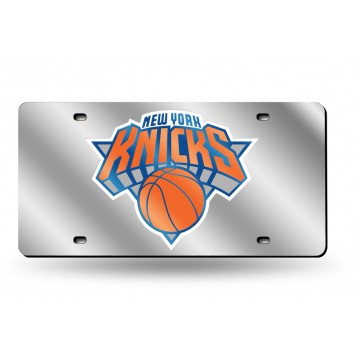 New York Knicks SIlver Laser  License Plate