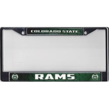 Colorado State Rams Chrome License Plate Frame