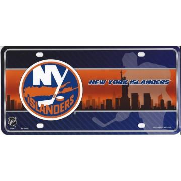 New York Islanders Metal License Plate